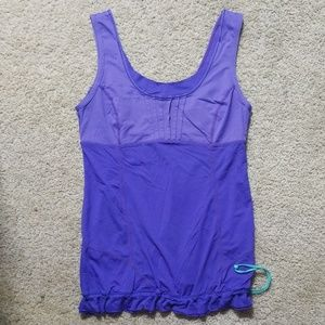 Lululemon Two Toned Purple Yoga Dance Top Sz 6